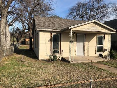 Fort Worth Single Family Home Active Option Contract: 2562 Decatur Avenue