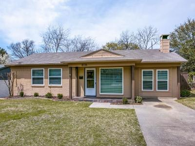 Dallas Single Family Home For Sale: 8725 Woodbrook Drive