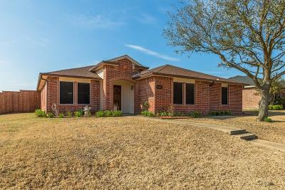 Wylie Single Family Home Active Option Contract: 1201 Maritime Lane