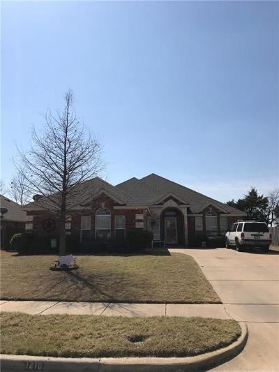 Wylie Single Family Home Active Option Contract: 1210 Arthurs Court