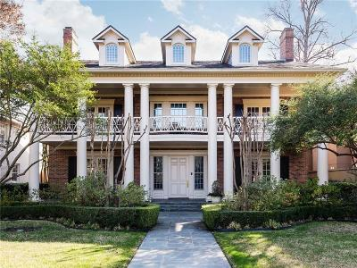 Highland Park Single Family Home For Sale: 3837 Stratford Avenue