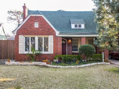 Dallas Single Family Home For Sale: 4416 N Hall Street