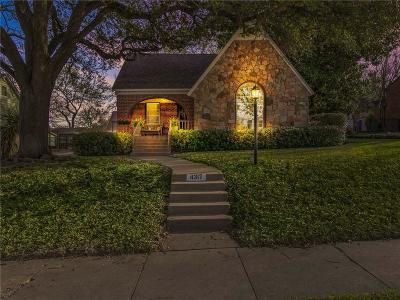 Fort Worth Single Family Home For Sale: 4317 Pershing Avenue
