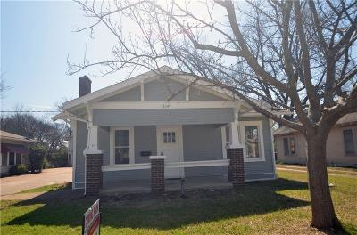 Cleburne Single Family Home Active Option Contract: 114 Scurlock Avenue