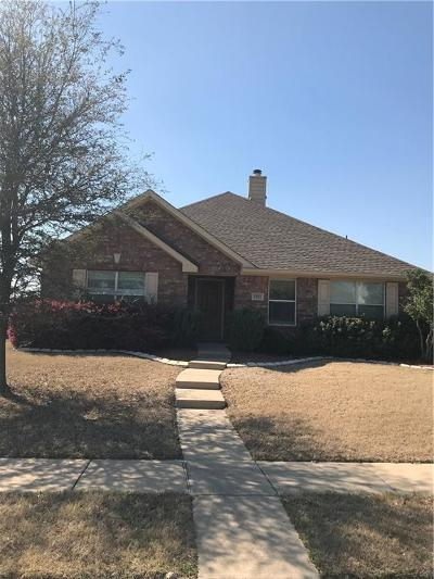 Wylie Single Family Home Active Option Contract: 1802 Brookridge Drive