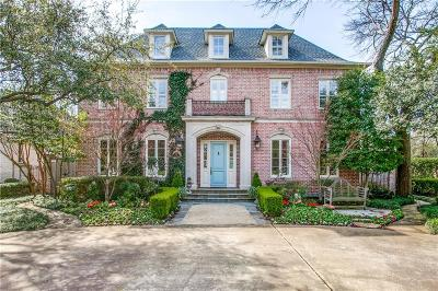 Dallas, Highland Park, University Park Single Family Home For Sale: 3925 Caruth Boulevard