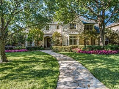 University Park Single Family Home Active Option Contract: 3305 Centenary Avenue