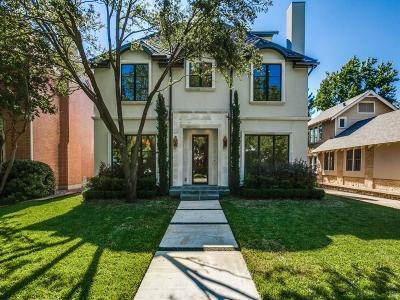 Highland Park, University Park Single Family Home Active Contingent: 3449 Stanford Avenue