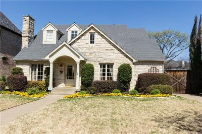 University Park Single Family Home For Sale: 4324 Bryn Mawr Drive