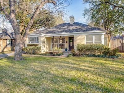 Fort Worth Single Family Home For Sale: 6428 Darwood Avenue