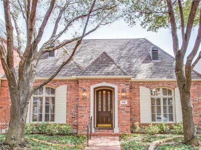 Dallas Single Family Home For Sale: 7830 Caruth Court