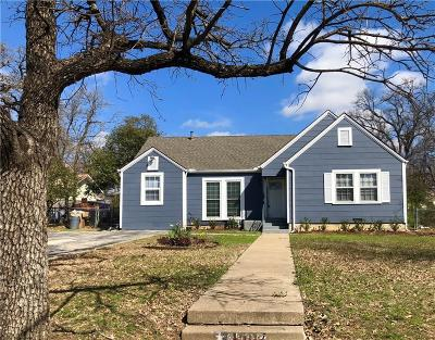 Fort Worth Single Family Home For Sale: 4907 Norma Street