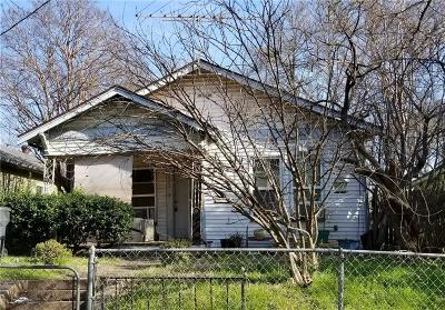 Dallas TX Single Family Home For Sale: $110,000