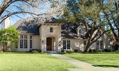 Dallas Single Family Home For Sale: 6607 Lupton Drive