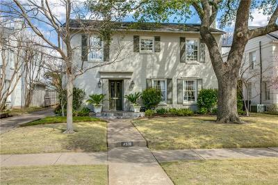 University Park Single Family Home Active Option Contract: 4516 Stanhope Street