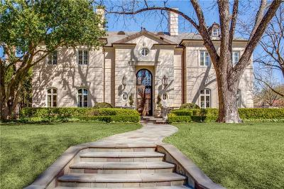 Highland Park TX Single Family Home For Sale: $8,495,000