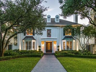 Dallas, Highland Park, University Park Single Family Home For Sale: 3709 Hanover Street