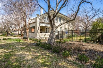 Fort Worth Single Family Home Active Option Contract: 2307 5th Avenue