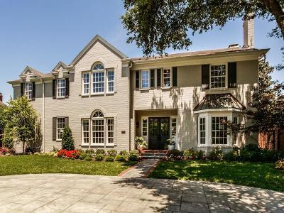 Dallas, Highland Park, University Park Single Family Home For Sale: 3120 Stanford Avenue
