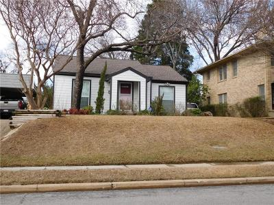Dallas Single Family Home Active Contingent: 6215 Llano Avenue