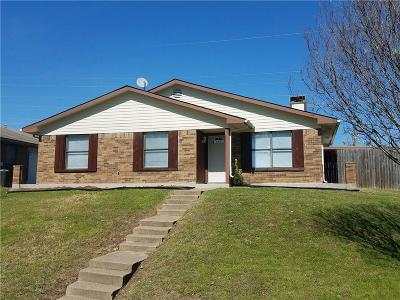 Mesquite Single Family Home Active Option Contract: 1525 Golden Grove Drive