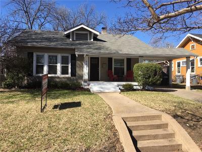 Dallas Single Family Home Active Option Contract: 6351 Belmont Avenue