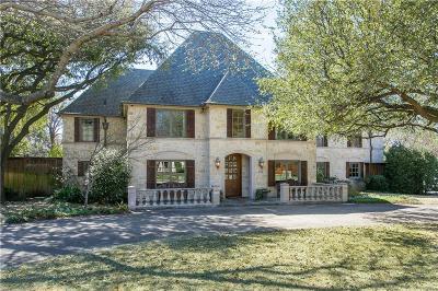 Dallas TX Single Family Home For Sale: $1,250,000