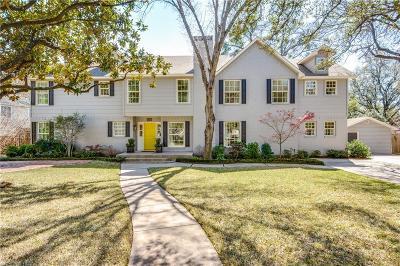 Dallas TX Single Family Home For Sale: $1,190,000