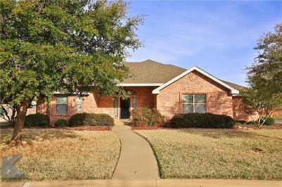 Abilene TX Single Family Home For Sale: $233,500