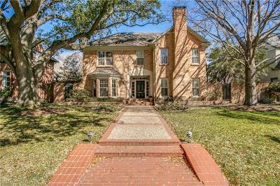 University Park Single Family Home For Sale: 4206 Larchmont Street