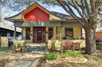 Fort Worth Single Family Home For Sale: 1709 Fairmount Avenue