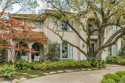 Dallas, Highland Park, University Park Single Family Home For Sale: 4008 Bryn Mawr Drive