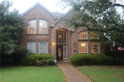 Plano Single Family Home Active Option Contract: 6305 Widgeon Drive