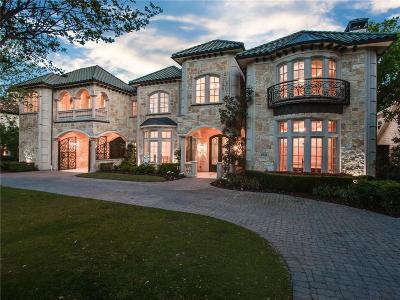 Dallas TX Single Family Home For Sale: $2,595,000