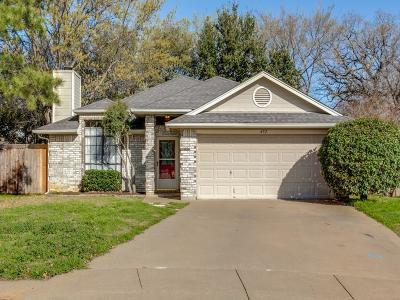 Grapevine Single Family Home Active Option Contract: 452 Caviness Drive