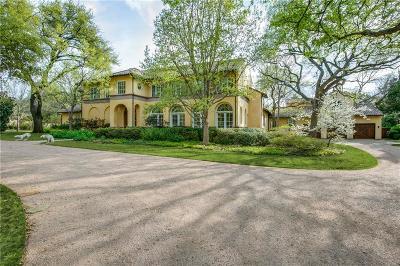 Dallas Single Family Home For Sale: 9007 Briarwood Lane