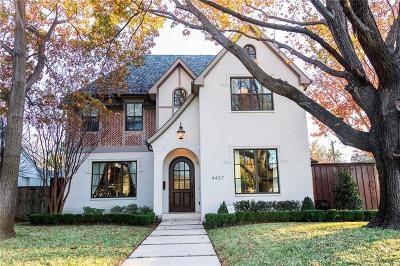 University Park TX Single Family Home For Sale: $1,399,000