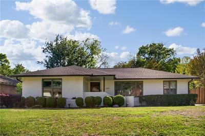 Dallas Single Family Home Active Option Contract: 6615 Santa Anita Drive