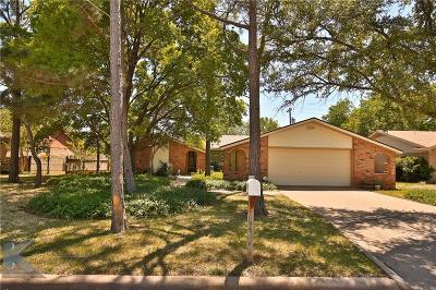 Abilene Single Family Home For Sale: 3125 Heritage Lane