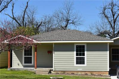 Fort Worth Single Family Home For Sale: 2624 Townsend Drive