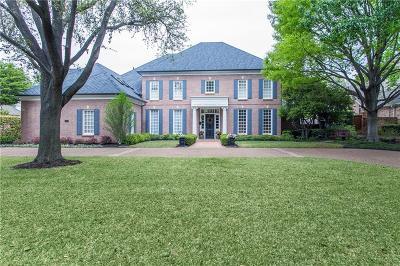 Plano Single Family Home Active Option Contract: 5217 Corinthian Bay Drive