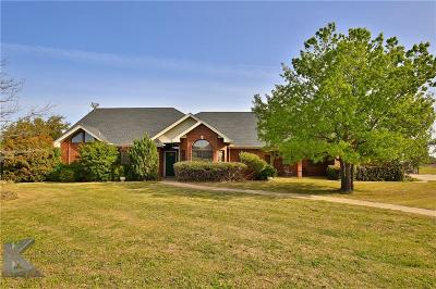 Abilene Single Family Home For Sale: 166 S View Trail