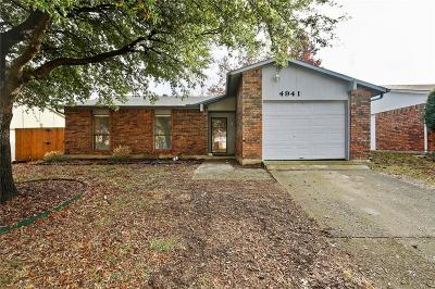 The Colony Single Family Home For Sale: 4941 Watson Drive