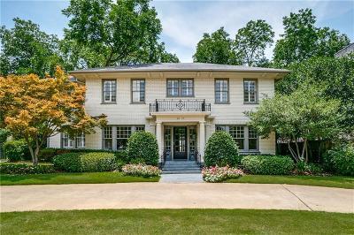 University Park Single Family Home For Sale: 3417 University Boulevard