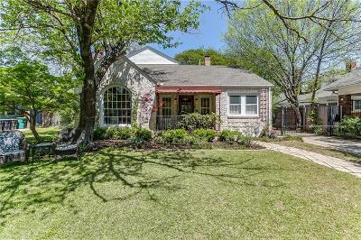 Fort Worth Single Family Home Active Contingent: 1303 Mistletoe Drive