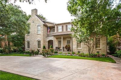 Highland Park, University Park Single Family Home For Sale: 3504 Marquette Street