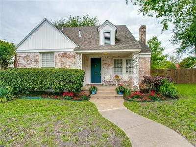 Dallas Single Family Home For Sale: 4727 Capitol Avenue