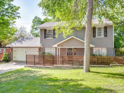 Dallas Single Family Home Active Option Contract: 8333 Angier Way