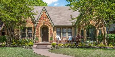 Dallas, Fort Worth Single Family Home Active Contingent: 5527 Mercedes Avenue