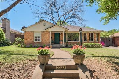 Dallas Single Family Home Active Option Contract: 6222 Marquita Avenue